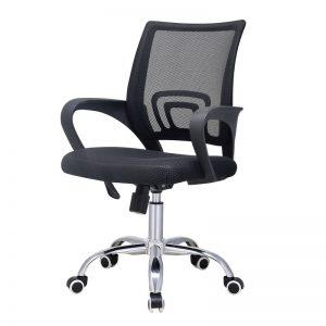 ghế xoay lưới mỏng đen giúp bạn ngồi làm việc thoải mái. Ghế được làm rất chắc chắn với lớp đệm dày giúp bạn thả lỏng cơ thể khi làm việc. Đặc biệt, chân ghế xoay có thể giúp bạn dễ dàng di chuyển trong phòng làm việc.