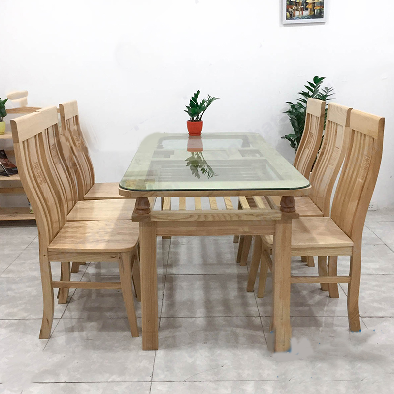 bàn ăn gỗ sồi Nga