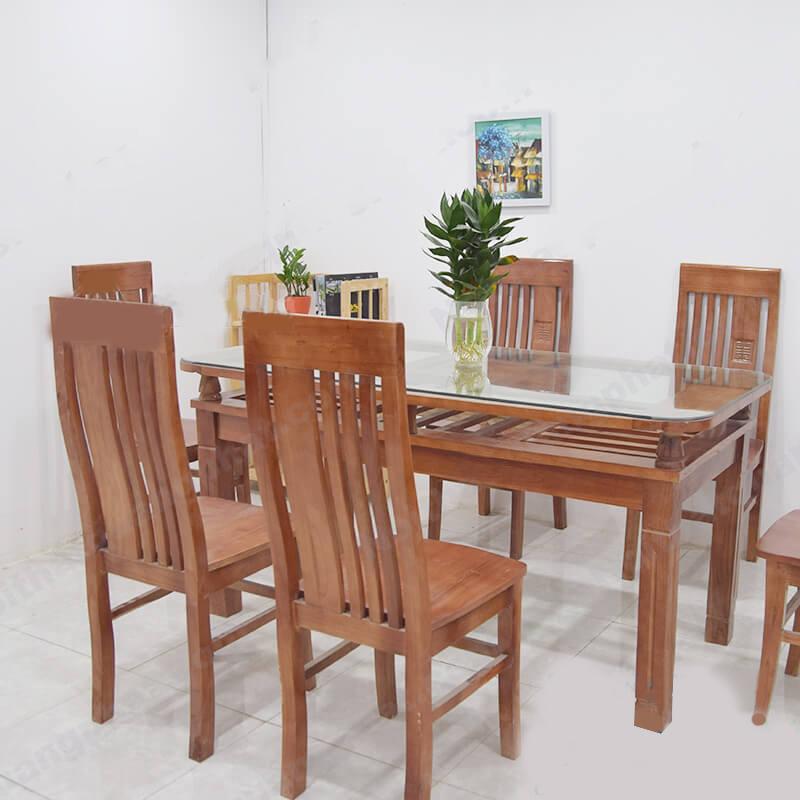 bàn ăn 6 ghếgỗ xoan giá rẻ