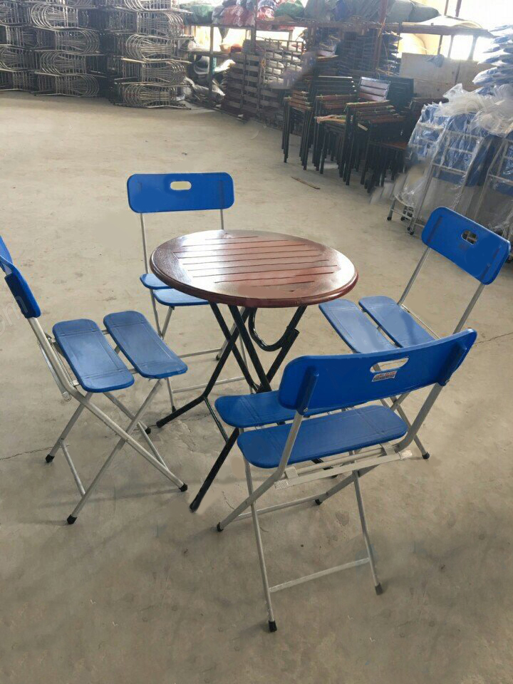 bàn ghế cafe khung sắt gấp