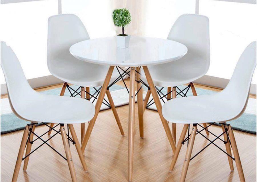 bàn ghế cafe trắng giá rẻ
