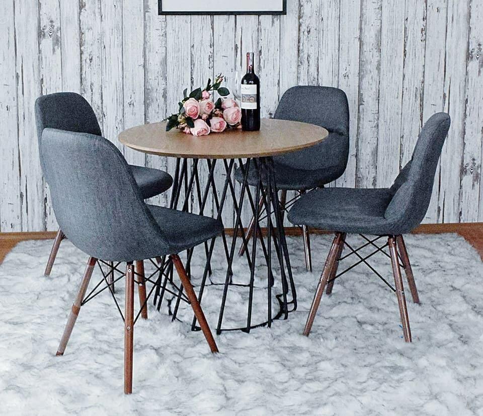 bàn ghế cafe tròn bọc nỉ thanh lý