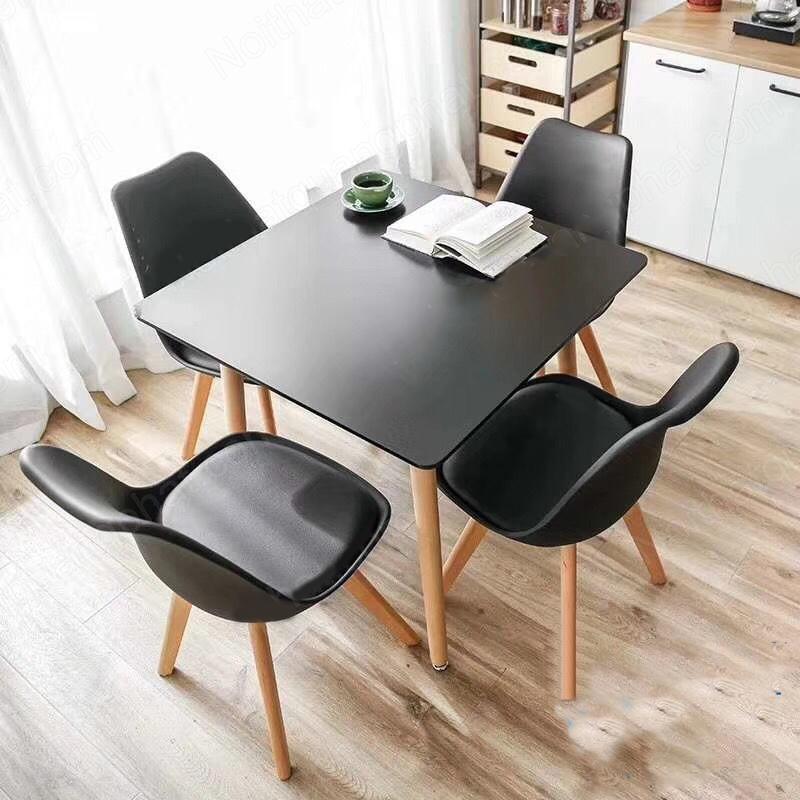 bàn ghế cafe nhựa vuông