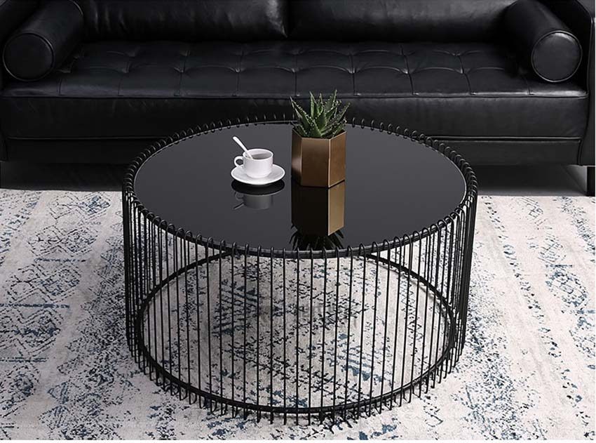 bàn trà sofa giá rẻ hình trụ