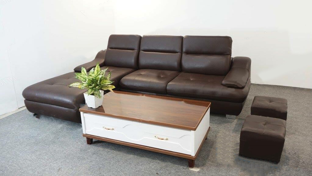 ghế sofa da màu nâu cao cấp giá rẻ
