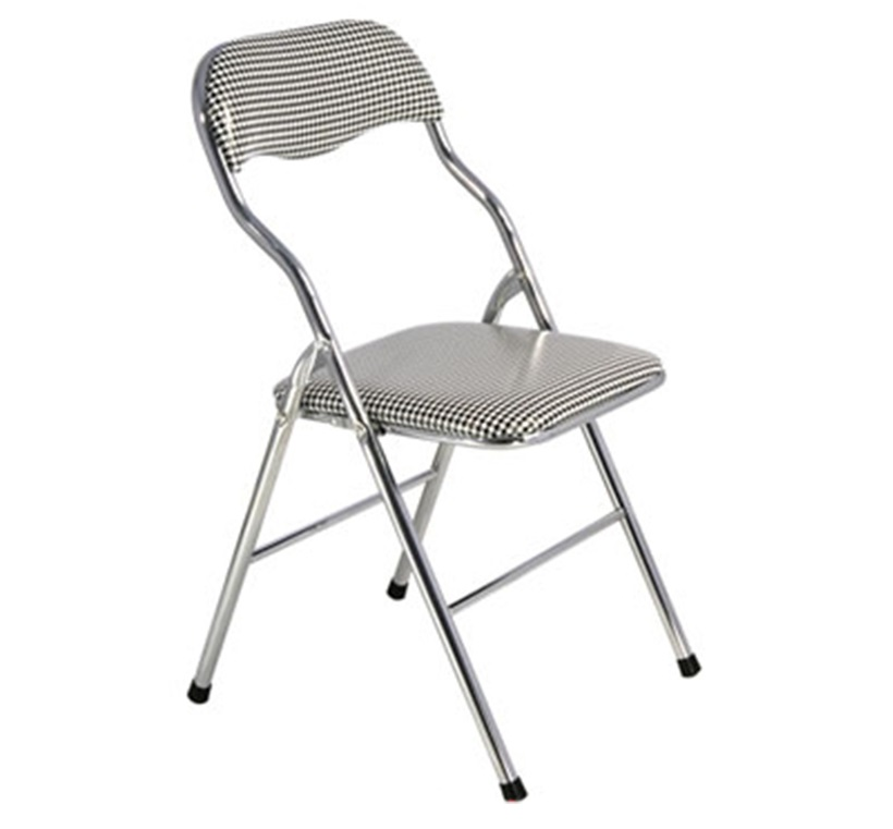 ghế gấp lưng ngắn chân inox caro giá rẻ