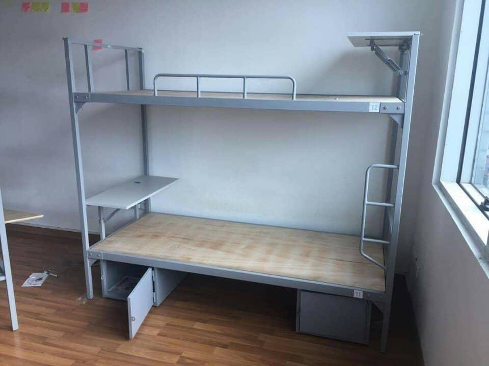 giường tầng sắt có bàn học giá rẻ vgiường tầng sắt có bàn học giá rẻ