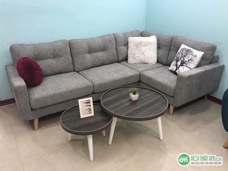sofa nỉ góc xám đẹp giá rẻ
