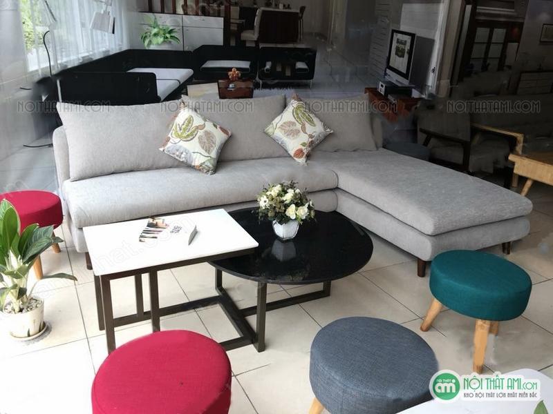 sofa nỉ thông minh màu trắng thanh lý