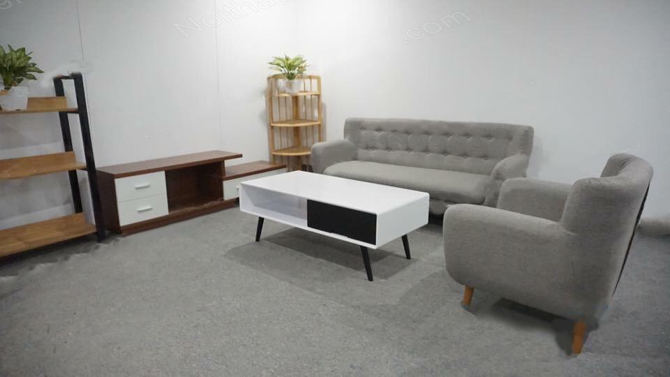 sofa văng nỉ màu xám giá rẻ