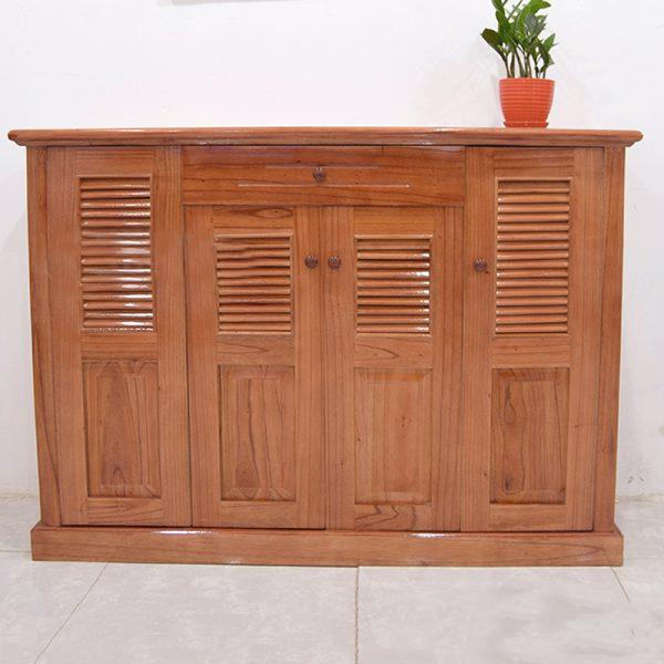 tủ giày 4 cánh gỗ xoan ta giá rẻ