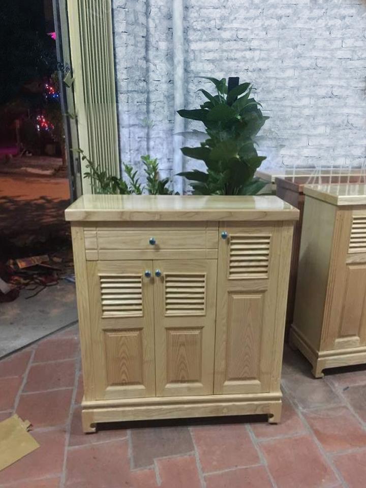 tủ giày 3 cánh gỗ sồi
