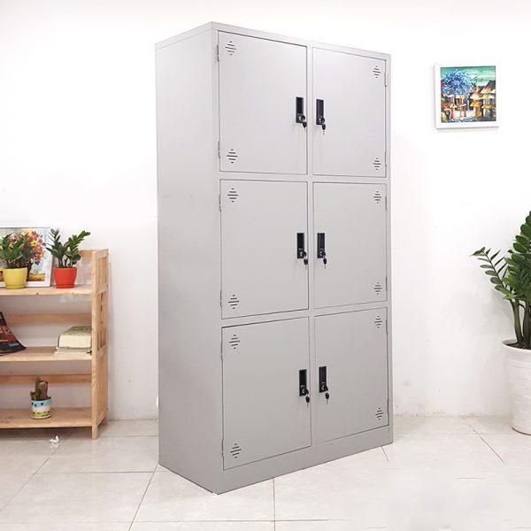 tủ sắt 6 ngăn thanh lý