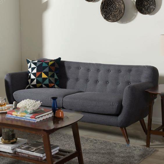 ghế sofa văng gỗ bọc nỉ hai lớp giá rẻ