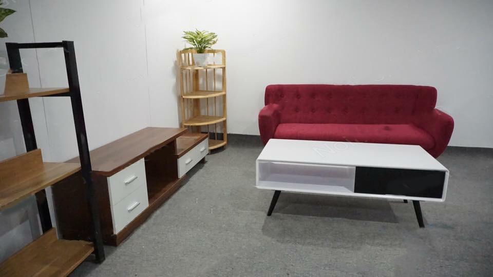 sofa văng màu hồng