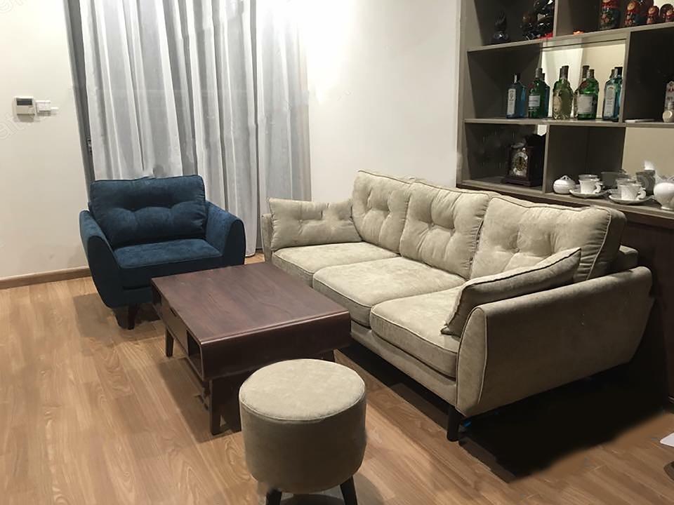 sofa văng hai lớp màu xám giá rẻ