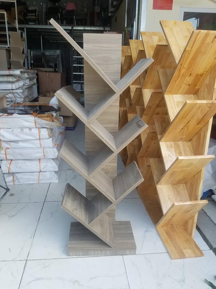 kệ sách rễ cây gỗ công nghiệp giá rẻ