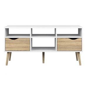 Kệ tivi phòng kháchđược thiết kế theo phong cách hiện đại, sản phẩm gồm 2 ngăn kéo, 4 hộc đồ . Kệ tivi 2 tầng 6 ngăn rẻ đẹpđược làm từ chất liệu gỗ MDF phủ bóng 2K và chân Gỗ sồi tự nhiên