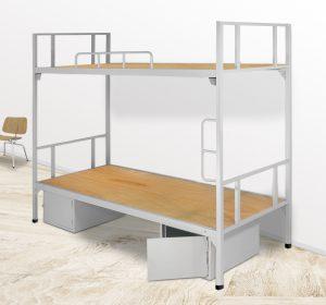Giường sắt tầng công nhân homestay với đa dạng kích thước tại nội thất AMIsẽ làm cho không gian phòng ngủ của bạn sang trọng và tiện nghi hơn.