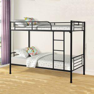 Kết cấu giường chắc chắn với màu đen và trắng sữa giúp cho không gian sang trọng và đẹp hơn. Bừng sáng không gian phòng ngủ tại khu tập thể, kí túc xá của bạn với chiếc giường ngủ đẹp và đầy tiện nghi.