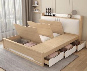 Giường ngủ nhiều ngăn chứa đồ là thiết kế mới của Nội thất AMI. Sau một ngày làm việc vất vả, giường ngủ sẽ là nơi bạn để bạn nghỉ ngơi, lấy lại sức khỏe để bắt đầu ngày mới. Vì vậy, việc chọn một chiếc giường tốt là điều hết sức cần thiết. Giường ngủ nhiều ngăn chứa đồ là thiết kế mới của Nội thất AMI. Không chỉ cho bạn giấc ngủ ngon mà còn tốt về chất lượng, đẹp về thẩm mĩ. Hãy cùng chúng tôi đi khám phá mẫu sản phẩm có một không hai này nào!
