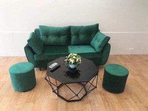 Bộ Sofa văng nỉ đệm rời màu xanh là dòng sofa dạng đệm rời, gối tựa rời kết hợp khung gỗ tự nhiên đã qua tẩm sấy chống được mối mọt. Đây là dòng sofa bán chạy nhất thị trường hiện nay với kiểu dạng hiện đại, tính đa năng cùng chất lượng tuyệt vời. Cùng tìm hiểu về chiếc ghế này nào.