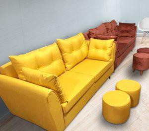 Bộ Sofa văng nỉ đệm rời màu vàng là dòng sofa dạng đệm rời, gối tựa rời kết hợp khung gỗ tự nhiên đã qua tẩm sấy chống được mối mọt. Đây là dòng sofa bán chạy nhất thị trường hiện nay với kiểu dạng hiện đại, tính đa năng cùng chất lượng tuyệt vời. Cùng tìm hiểu về chiếc ghế này nào.
