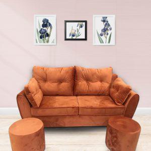 Bộ Sofa văng nỉ đệm rời màu cam là dòng sofa dạng đệm rời, gối tựa rời kết hợp khung gỗ tự nhiên đã qua tẩm sấy chống được mối mọt. Đây là dòng sofa bán chạy nhất thị trường hiện nay với kiểu dạng hiện đại, tính đa năng cùng chất lượng tuyệt vời. Cùng tìm hiểu về chiếc ghế này nào.