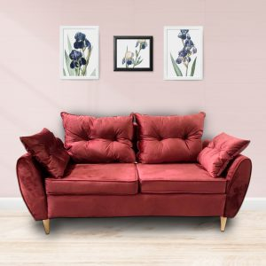 Bộ Sofa văng nỉ đệm rời màu đỏ là dòng sofa dạng đệm rời, gối tựa rời kết hợp khung gỗ tự nhiên đã qua tẩm sấy chống được mối mọt. Đây là dòng sofa bán chạy nhất thị trường hiện nay với kiểu dạng hiện đại, tính đa năng cùng chất lượng tuyệt vời. Cùng tìm hiểu về chiếc ghế này nào.