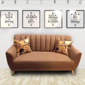 Ghế sofa văng nỉ hiện đại màu nâu là dòng sofa mang phong cách Scandivian hiện đại, được làm từ chất liệu nỉ cao cấp kết hợp khung gỗ tự nhiên đã qua tẩm sấy chống được mối mọt. Màu sắc bắt mắt, phong cách mang hơi hướng hiện đại phù hợp với căn hộ chung cư cao cấp.