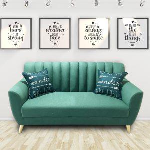 Ghế sofa văng nỉ hiện đại màu xanh là dòng sofa mang phong cách Scandivian hiện đại, được làm từ chất liệu nỉ cao cấp kết hợp khung gỗ tự nhiên đã qua tẩm sấy chống được mối mọt. Màu sắc bắt mắt, phong cách mang hơi hướng hiện đại phù hợp với căn hộ chung cư cao cấp.
